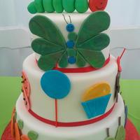 Very Hungry Caterpillar *Very Hungry Caterpillar Birthday Cakewww.dolledupcakes.com