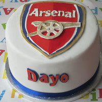 Arsenal Logo Cake Made For My Sons 10Th Birthday In April He Insisted On Helping With The Logo Cutting Out The The Logo Despite Wriggly Arsenal logo cake made for my son's 10th birthday in April. He insisted on helping with the logo, cutting out the the logo, despite...
