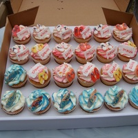 Beach Themed Cupcakes Beach themed cupcakes