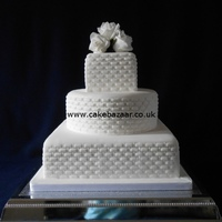 Basketweave Design Wedding Cake Basketweave design wedding cake
