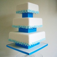Blue Hydrangea Wedding Cake For my portfolio