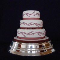 Vine Design Wedding Cake Vine design wedding cake