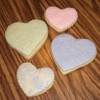 Rolled Buttercream Hearts