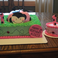 Lady Bug Cake Done for a one year old that loves lady bugs