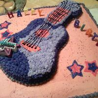 Hannana Montana Guitar Cake Made this cake for my friends niece. It was awesome she loved it!