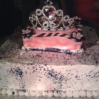 Bubu's Birthday Cake Made this cake for my nieces birthday the top cake is a pillow cake to hold her tiara!
