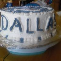 Dallas Cowboys Cake made this cake for my husband!