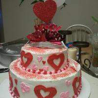 Briana's Birthday Cake Made for my friends daughter whos birthday is on Valentines Day