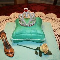 Princess Cake, cake pillow, the tira , shoe and rose are all gumpaste.