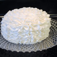 White Ruffle Cake   Copied a cake that someone had pinned on pintrest. Not sure who gets the credit, but I thought I'd try it.