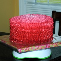 Graduated Color Ruffle Cake Graduated color ruffle cake - dark to light