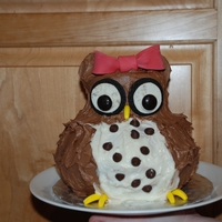 Owl Birthday Cake Owl Cake made for my daughter's first birthday