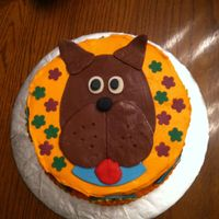 Scooby D00 Scooby Doo Cake. Red Velvet with Cream Cheese Icing. All accents are modeling chocolate