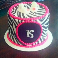 Pink Zebra Baby Shower