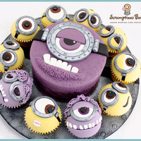 Big Cake Little Cakes : Despicable Me 2 Minions... & Mutant Minions... how I loved the film, how I loved making this cake! One of my personal faves :)