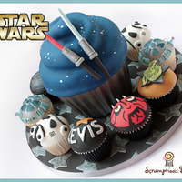Star Wars Giant Cupcake & Birthday Cupcakes May the force be with you!