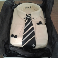 Shirt And Tie Cake My first shirt cake had a little problem with the collar but i am happy with the way it came out. Three layer lemon cake with lemon filling...