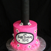 Hot Pink Bottle Of Nail Polish What little little girl woun?t love a hot pink sparkly bottle of nail polish for her birthday!This cake was four 8 inch round white cakes...