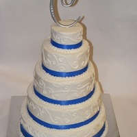 Round All Buttercream Wedding Cake