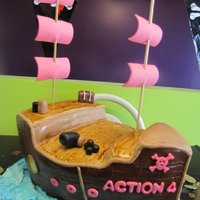 Pirate Ship Cake   Pirate ship cake for my 4 year old daughter's birthday. Yes, she wanted pirates. :) Thanks to all the inspiration here on CC!
