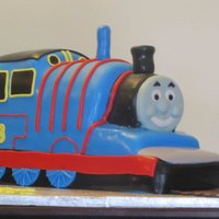 Thomas The Train Thomas the Train cake for a little boy turning 3. Made with lots of help from http://thomasthetankenginecake.blogspot.com/