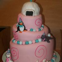 My Daughters Polar Party Animal Cake For Her 7Th Birthday My daughter's polar party animal cake for her 7th birthday!
