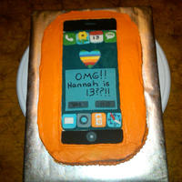 I-Phone   I-Phone cake for a young lady who turned 13! The cake was a hit!