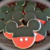 Mickey Mouse Cookies Cookie favors for a 1st birthday.