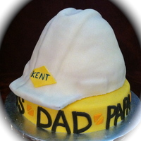 Construction Hat This cake was a tear jerker delivery! A woman ordered it for her husband's birthday who passed away last year and this is his first...
