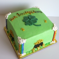 St. Patricks Day Birthday Cake St. Patricks day birthday cake covered in buttercream with fondant accents