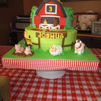 Little Farm Cake And Cupcakes This was for my little boy who loves animals and so we had a farm themed bday party for him! He was thrilled!! Cake was half vanilla WASC...
