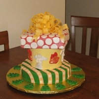Christmas Celebration Cake The top and bottom layers are chocolate, the middle layer is lemon. Packages, Angels & Bells