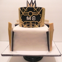 Great Gatsby Cake Made Of Mmf And Modeling Chocolate Great Gatsby Cake Made of MMF and modeling chocolate.