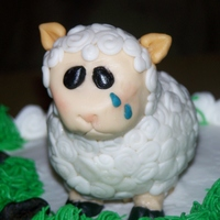 Miss Ewe Cake I made this cake for a coworker that was leaving for another job. It was a chocolate cake with chocolate chip filling and buttercream icing...
