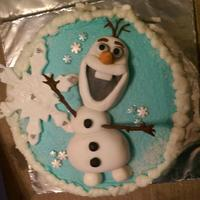 Olaf Frozen Cake Olaf from the movie Frozen for a friend.