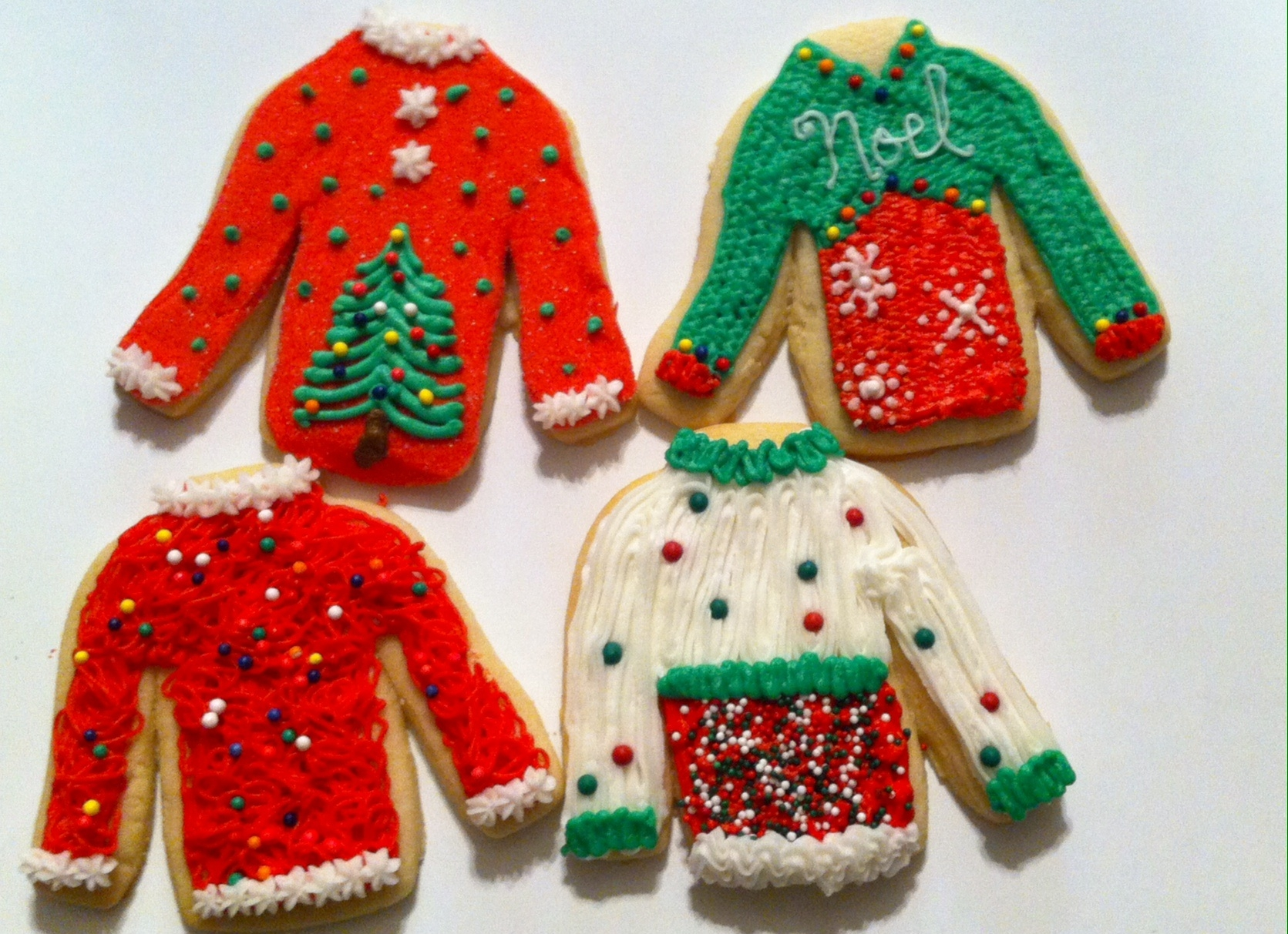 Ugly Sweater Cookies Buttercream ugly sweater cookies