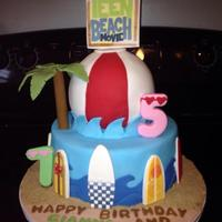 Teen Beach Movie Cake Made this for cake for two little girls.