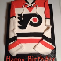 Flyers Jersey Cake   Made out of fondant