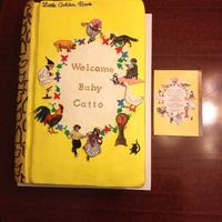 Little Golden Book Cake   Made this cake to look like invitation. Hand painted characters using gel food coloring and edible markers.