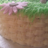Easter Basket   Lemon sponge and buttercream weave. This was my first attempt at doing basket weave TFL
