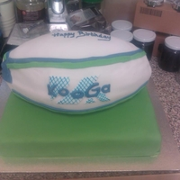 Rugby Ball this was a chocolate orange cake made for a rugby mad little boy TFL