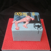 Spiderman Cake Spiderman cake for sons 5th birthday party. Original cake was made by agua 70 seen here on CC. TFL