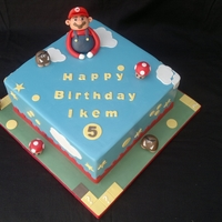 Supermario Cake Supermario Cake. Figures made from fondant.
