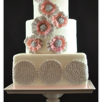 Vintage Ruffle Button Cake Simple ruffle cake.