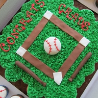 College Graduation Baseball Theme Cake for a College Graduation with a baseball theme. The baseball field was a cupcake cake (my first) consisting of 48 cupcakes, with...