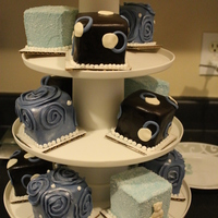 Mini Cakes For Boy Baby Shower quick pic taken before delivery to the party