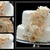 Peachy Lady Elegenat wedding cake