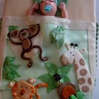 Jungle Cake jungle baby crib bedding