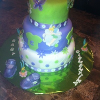 My 4Th Fondant Cake I Learned From Watching Ytubetinker Bell Baby Shower Cake Everything Is Edible Except For Tinker Bell And The But My 4th fondant cake. I learned from watching Y.tube....Tinker bell baby shower cake. Everything is edible except for Tinker bell and the...