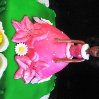 Princess- Hawaiian Luau Princess-Hawaiian Luau:Red Velvet Cake with Cream cheese frosting and filling.covered in FondantFlowers, flip flops, and Palm Trees made...